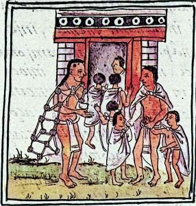 Aztec-Children-being-Taken-to-Aztec-School