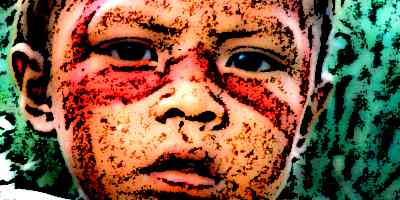 Aztec Child's Face