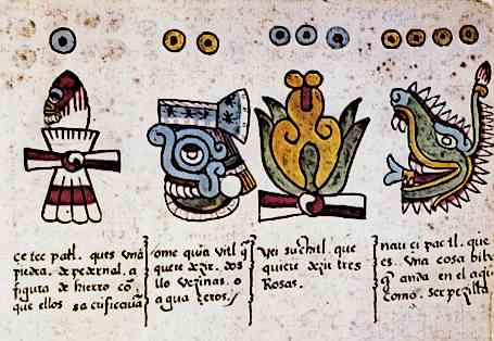 Image of original page from the Aztec Codices Codex Magliabechiano