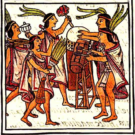 Aztecs enjoyed music and the Drums were the most popular instrument
