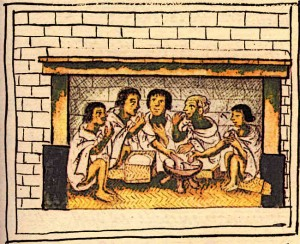 Aztec Culture Aztec Men Share a Meal