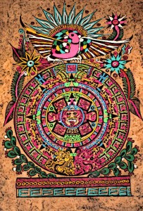 Aztec-Flowers-on-Aztec-Calendar-Image