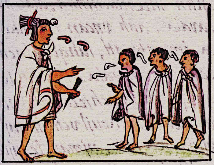 Aztec education for children