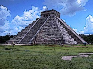 Aztec-Pyramid-at-Chichen--Itza