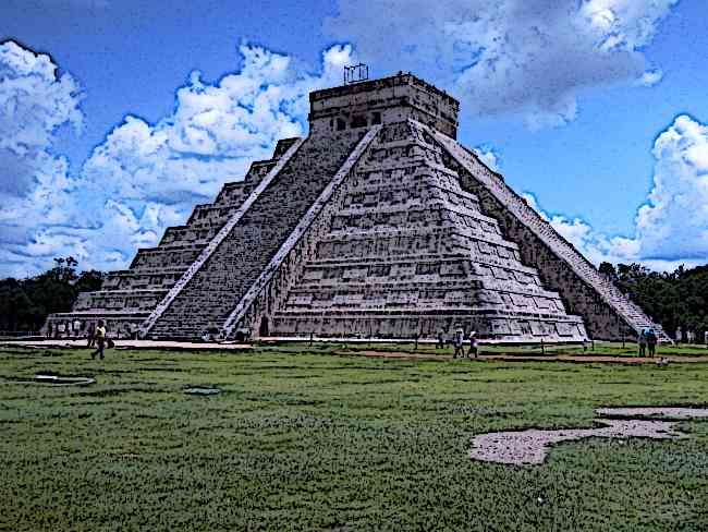 Famous Stepped Pyramid at Chichen Itza