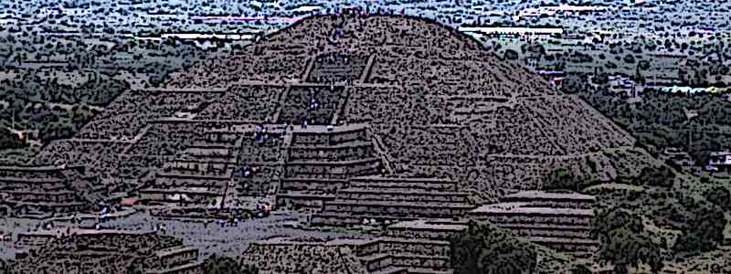 Aztec Ruins Pyramid of the moon Teotihuacan