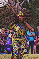 Aztec woman performing the Aztec Fire dance