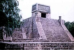 "These temples were called ""Teocalli"" by the Aztec people meaning ""god houses"""