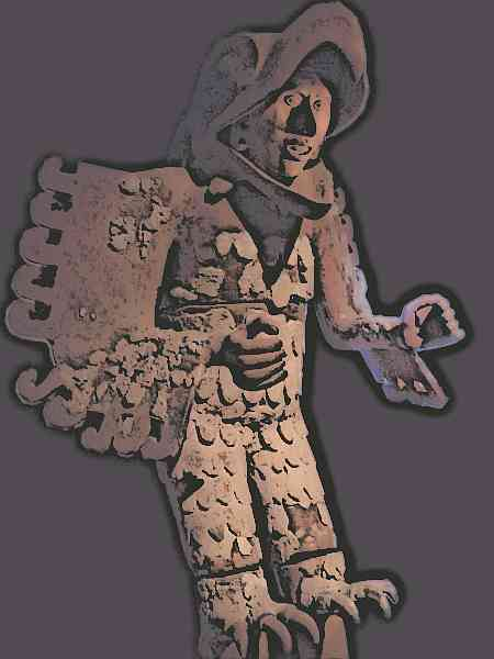 Aztec eagle warrior statute
