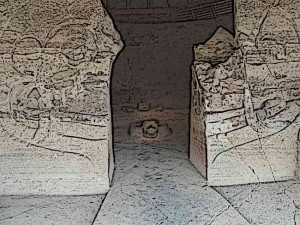 Eagle Warrior Temple Entrance - Aztec Eagle Warriors, along with Aztec Jaguar Warriors, formed the two elite orders of the best warriors among the Aztecs