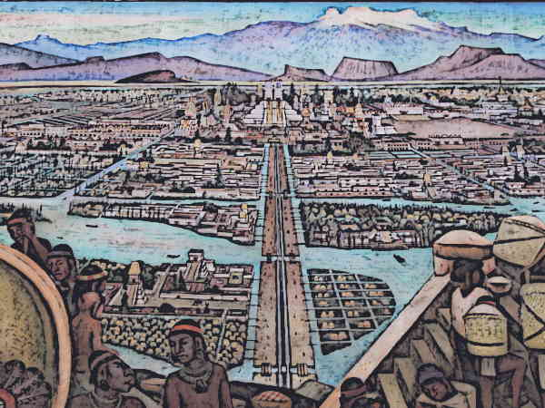 The city of Tenochtitlan was the largest urban centre in the pre-Hispanic Mesoamerica.