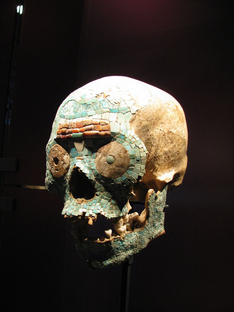 Aztec Skull cleaned and decorated