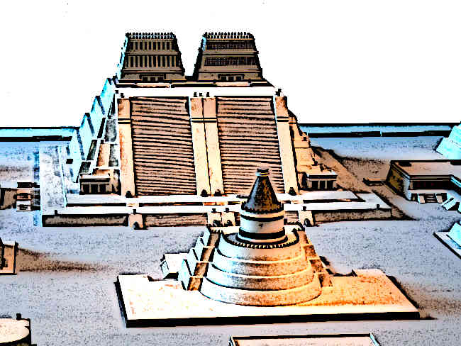Perhaps the most famous of all Aztec temples is the Templo Mayor whose construction began as early as 1325